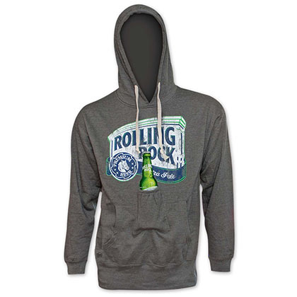 ROLLING ROCK Bottle Opener Grey Beer Pouch Hoodie