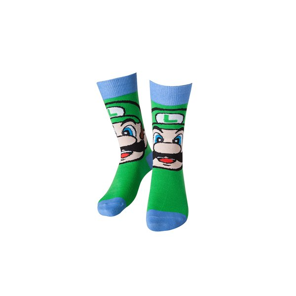 Nintendo - Luigi Socks Green With Blue