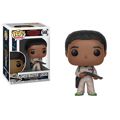 STRANGER THINGS Funko Pop Ghostbuster Lucas Vinyl Figure