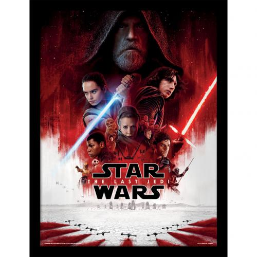 Star Wars The Last Jedi Framed Print 16 x 12