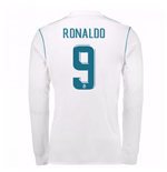 2017-18 Real Madrid Long Sleeve Home Shirt - Kids (Ronaldo 9)