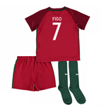 2016-17 Portugal Home Mini Kit (Figo 7)