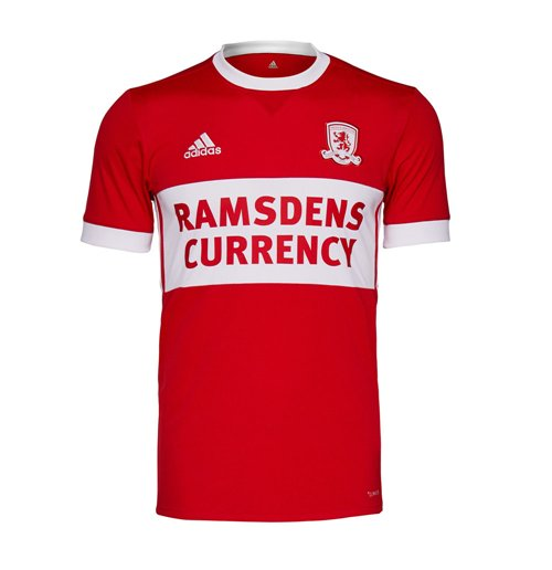 2017-2018 Middlesbrough Adidas Home Football Shirt