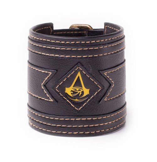 ASSASSIN'S CREED Origins Crest Wristband, One Size, Black/Yellow