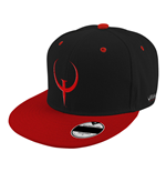 QUAKE Champions Game Logo Snapback Baseball Cap, Black/Red