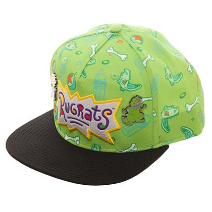 RUGRATS Embroidered Logo Green Snapback Hat