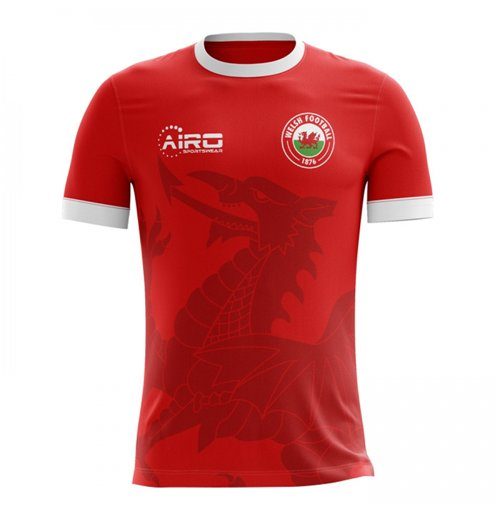 2018-2019 Wales Home Concept Football Shirt