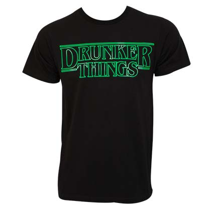 Drunker Things ST. PATRICK'S DAY Black Tee Shirt