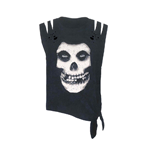 Misfits T-shirt Skull - Tie Side (acid WASH/CUT)