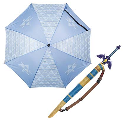 LEGEND OF ZELDA Triforce Sword Blue Umbrella
