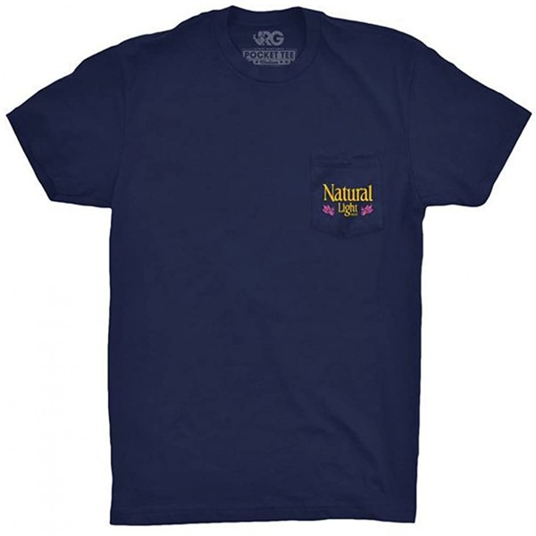 Natty Light Warhol Rowdy Gentleman Navy Blue Tee Shirt