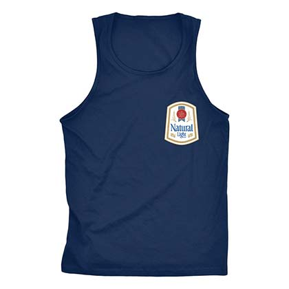Natty Light Rowdy Gentleman Vintage Logo Navy Blue Tank Top