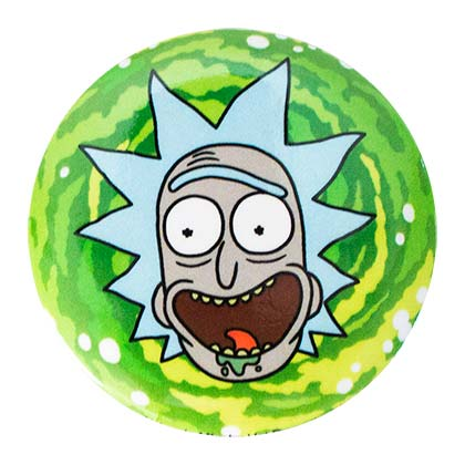 Rick And Morty Round Rick Button