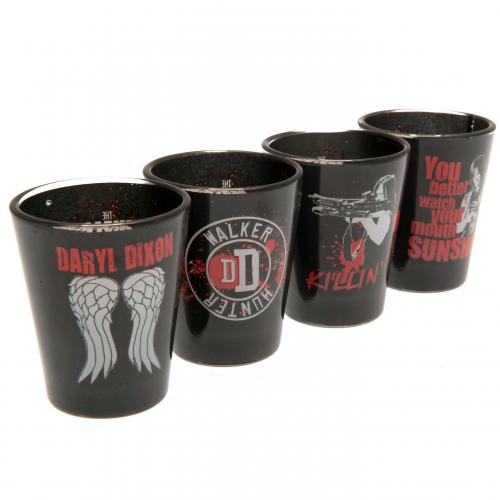 The Walking Dead 4pk Premium Shot Glass Set