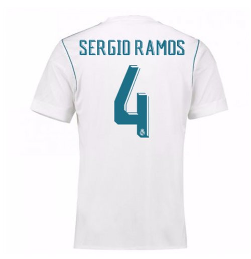 outlet store ddaef 92d75 2017-18 Real Madrid Home Shirt - Kids (Sergio Ramos 4)
