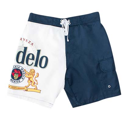 Modelo Bottle Label Men's Board Shorts