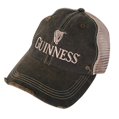 GUINNESS Harp Logo Brown Mesh Trucker Hat