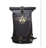 ASSASSIN'S CREED Origins Gold Crest Logo Rolltop Backpack, Black