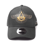ASSASSIN'S CREED Origins Embroidered Crest Logo Curved Bill Baseball Cap, Black