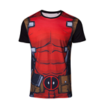 MARVEL COMICS Deadpool Men's Suit Sublimation T-Shirt, Medium, Multi-colour