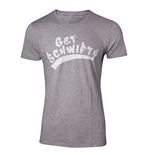 RICK AND MORTY Men's Get Schwifty T-Shirt, Large, Grey