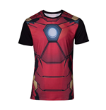 MARVEL COMICS Iron Man Men's Suit Sublimation T-Shirt, Large, Multi-colour