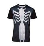 MARVEL COMICS Spider-man Men's Venom Suit Sublimation T-Shirt, Large, Multi-colour