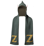NINTENDO Legend of Zelda Logo Hooded Knitted Fashion Scarf with Ears, One Size, Green