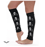 Black stockings with white skull and bon