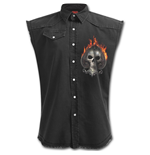 Ace Reaper - Sleeveless Stone Washed Worker Plus Size