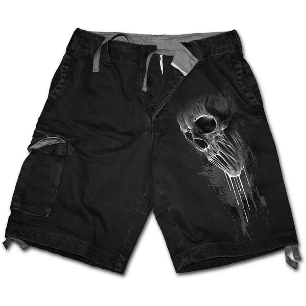 Bat Curse - Vintage Cargo Shorts Black