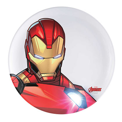IRON MAN Plastic Melamine Dinner Plate