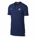 2017-2018 Chelsea Nike Authentic Grand Slam Polo Shirt (Black)