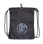 MARVEL COMICS Black Panther Logo Rubber Print Gymbag, Multi-colour