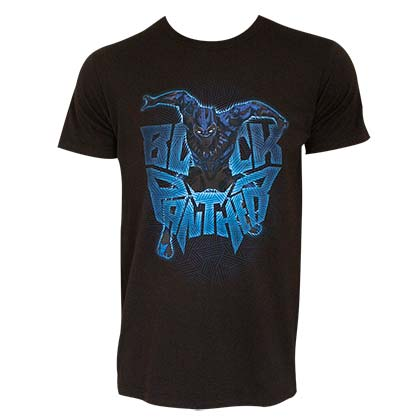 BLACK PANTHER Attack Logo Black Tee Shirt