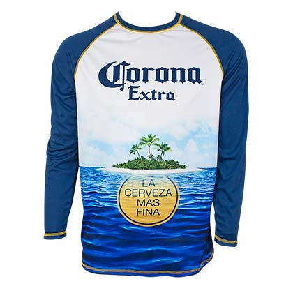 CORONA EXTRA Long Sleeve Men's Rash Guard Tee Shirt