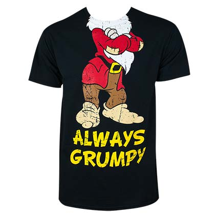 DISNEY Snow White Always Grumpy Black Tee Shirt