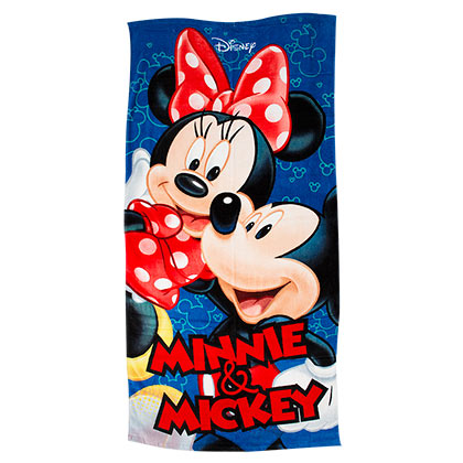 DISNEY Mickey and Minnie Mouse Beach Towel