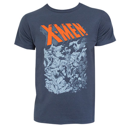 X-MEN Group Fight Grey Tee Shirt