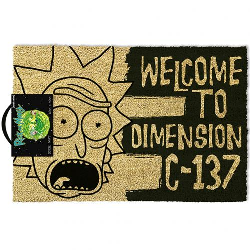 Rick And Morty Doormat C-137