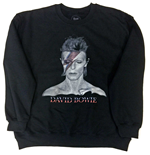 David Bowie Men's Sweatshirt: Aladdin Sane Black