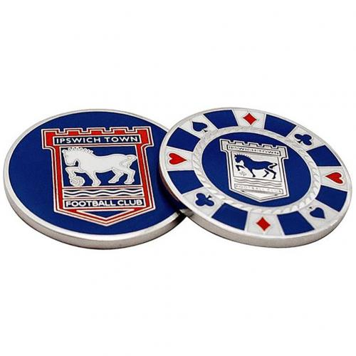 Ipswich Town F.C. Casino Chip Ball Marker