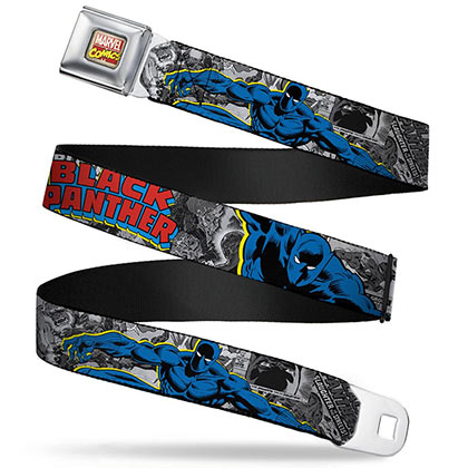BLACK PANTHER Seat Belt Buckle Belt