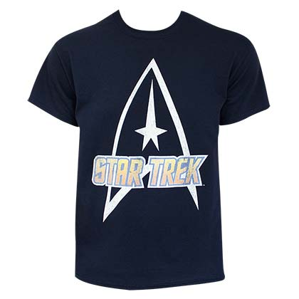 STAR TREK Logo Navy Blue Tee Shirt