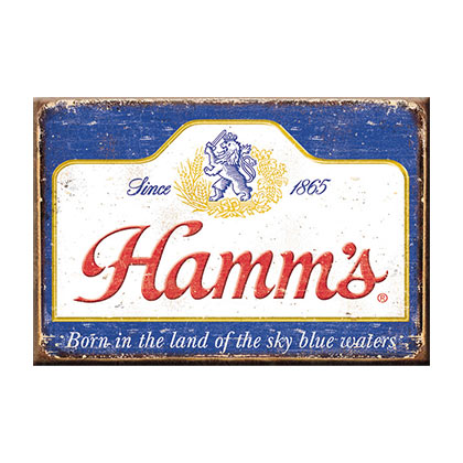 HAMM'S Distressed Logo Magnet