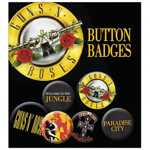 Guns N Roses Button Badge Set