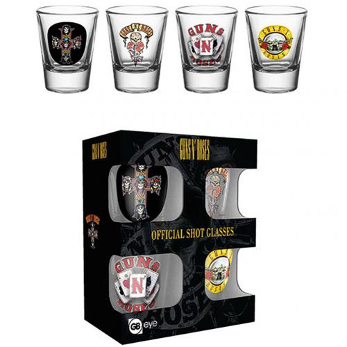 Guns N Roses 4pk Shot Glass Set