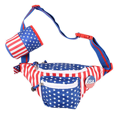 USA Fanny Pack With Beer Holster