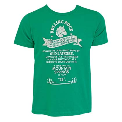 ROLLING ROCK Tradition Green Tee Shirt