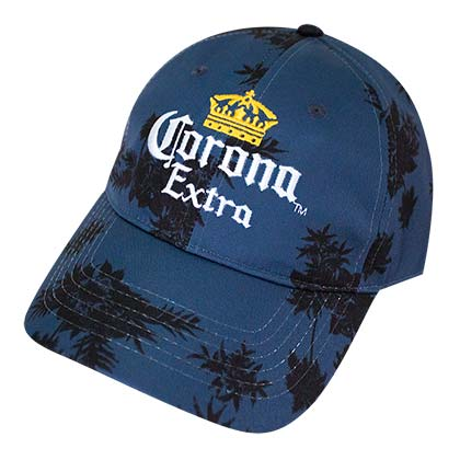 CORONA EXTRA Palm Tree Floral Navy Blue Hat